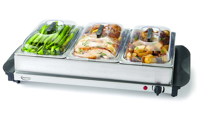 $34.95 for a Factory Re-Conditioned Betty Crocker 3-Tray Buffet Server (a $99.98 Value)