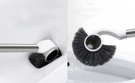 $12 for a Magnetic Stainless Steel Toilet Brush & Caddy (a $29 Value)