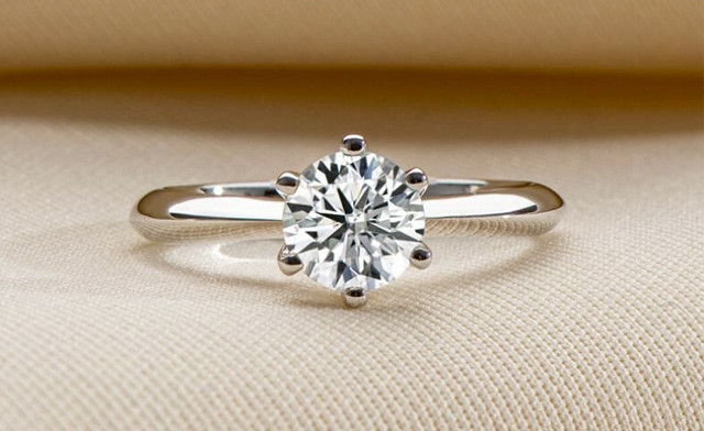 Up to 80% off a Moissanite Engagement Ring