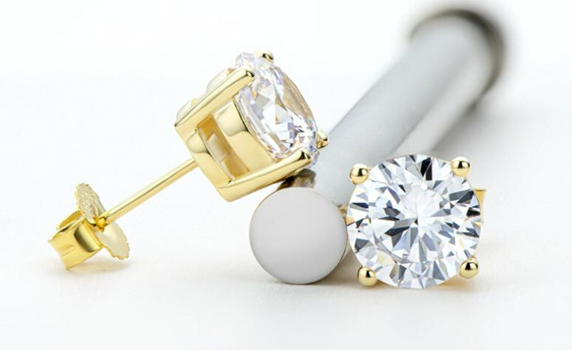 $75 for a Pair of Moissanite Stud Earrings (a $399 Value)