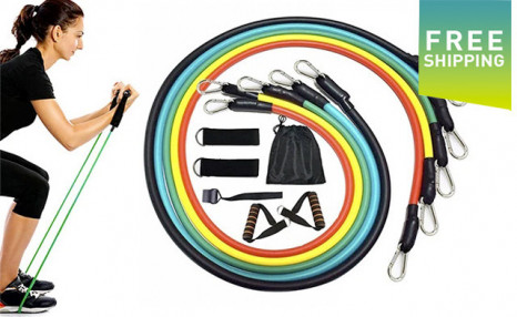 Click to view $39 for an 11Pc Resistance Band Set (a $92 Value)