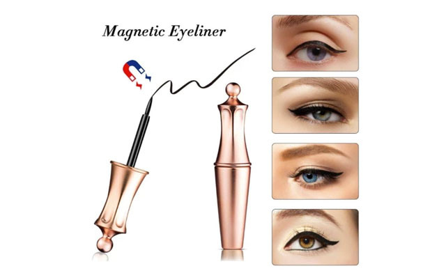 Up to 76% off a Pair of Magnetic Eyelashes with Waterproof Eyeliner