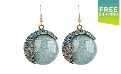 $10 for Boho-Chic Hanging Turquoise Earrings (a $49.99 Value)