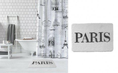 $25.95 for a Paris Shower Curtain & Bath Mat (a $69 Value)