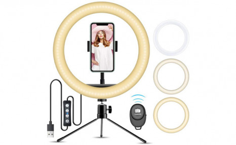 $19.95 for a 10-Inch Ring Light with Stand (a $44.99 Value)