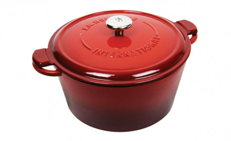 $109.95 for a Red 5.25L Cast Iron Round French Oven (a $300 Value)