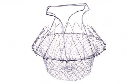 $16.95 for a Foldable Stainless Steel Cooking Basket (a $38.99 Value)