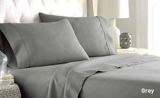 Up to 79% off a 4-Piece 600 Thread Count Cotton Blend Sheet Sets