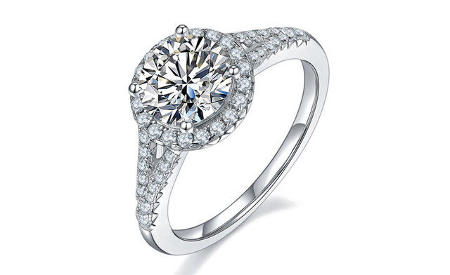$189 for a Moissanite Halo Engagement Ring 1.5 ct (a $1,399 Value)