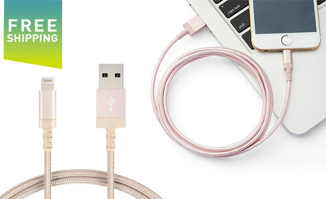 Up to 64% off Nylon Lightning or USB-C Charging Cables