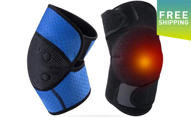 $26.90 for a Pair of Tourmaline Magnetic Self-Heating Knee Pads (a $59 Value)