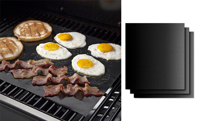 $17.95 for a 3-Pack of Non-Stick BBQ Grill Mats (a $57 Value)