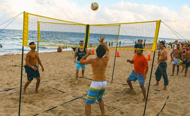 $36.95 for a Portable 4-Square Volleyball Net (a $119.99 Value)