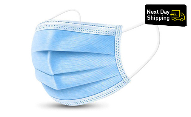 NEXT DAY SHIPPING! $10.95 & Up for Level 1 Style 3 Ply Disposable Mask (Non-Medical Grade)