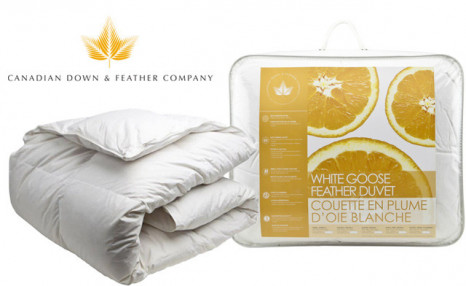 Up to 55% off a White Goose Feather Duvet