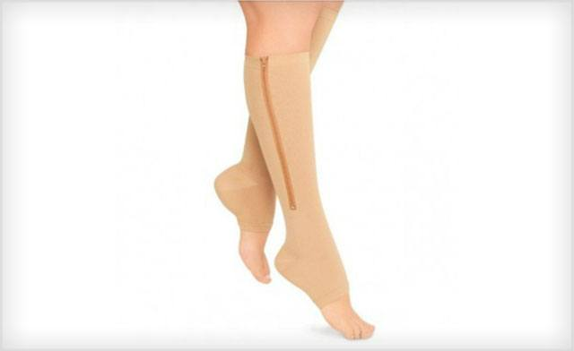 $15 for Open Toe, Zip Up Compression Socks - Shipping Included (a $30 Value)