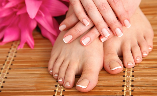 $55 for a Manicure, Pedicure, Facial and Peel in Hamilton (a $110 Value)