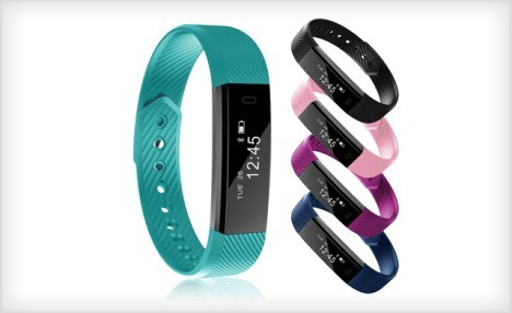 $29 for an ID115HR Smart Watch Fitness Activity Tracker Bluetooth Sleep Step Counter - Shipping Included (a $99 Value)