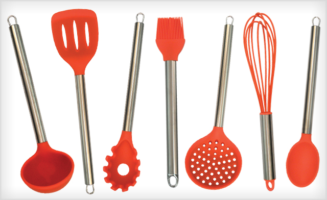 $19 for a 7-Piece Silicone Kitchen Utensil Set (a $42 Value)
