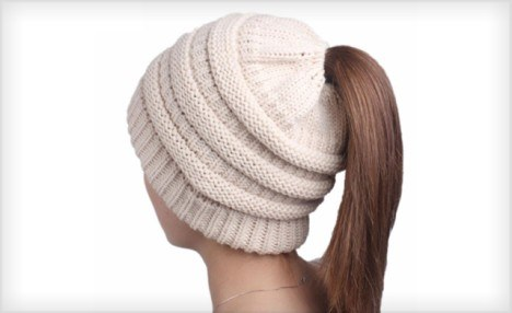 Click to view PFSH - WagJag Product (SR) - Knit Ponytail Beanie - January 23, 2019 - Andrew