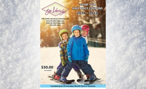 $23 for a Coupon Booklet with $500 Worth of Discounts for Skiing and Snowboarding for the 2018-2019 Season (a $50 Value)