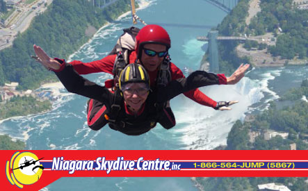 $199 for a Tandem or Solo Skydive from Niagara Skydive