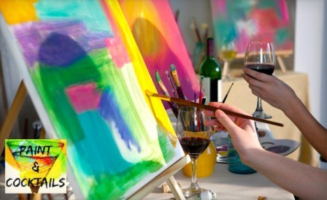 $25 for a Paint Night for Grown Ups From Paint and Cocktails - across Ontario (a $45 Value)