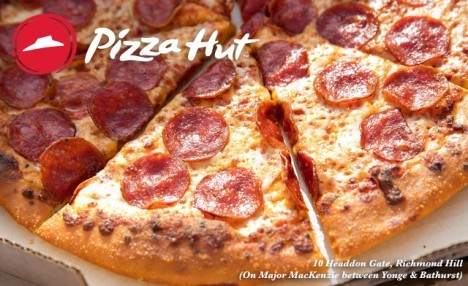 Up to 57% Off at Pizza Hut - Only Valid at 10 Headdon Gate, Unit 8 Richmond Hill L4C 8A3 (On Major Mac between Yonge & Bathurst)