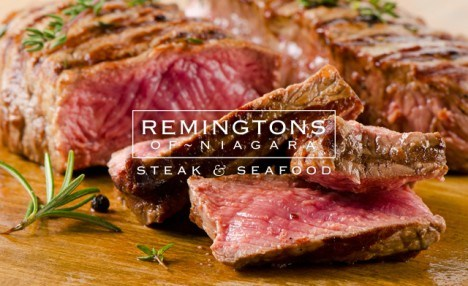 $99 for a Three-Course Dinner for Two with House Wine and a Bonus $20 Gift Card at Remington's of Niagara Steak & Seafood ($211 Value)