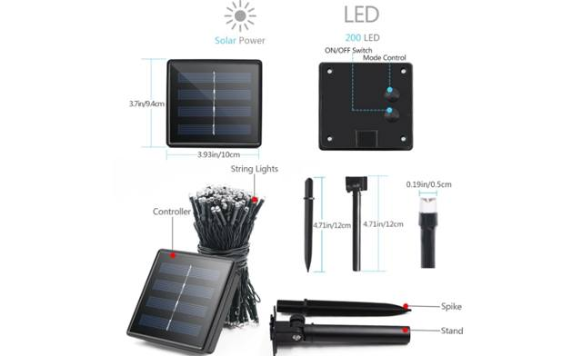 $29 for 22 Meter Solar LED Patio Lights (an $87.01 Value)