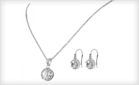 $19 for a Solitaire Pendant & Drop Earring Set with Crystals from Swarovski® (a $129 Value)