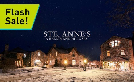 NEW DATES AVAILABLE! NOW BOOKING INTO MARCH - $599 for a Winter Getaway at Ste. Anne's Spa Award-Winning Retreat | Canada's Largest Destination Spa!