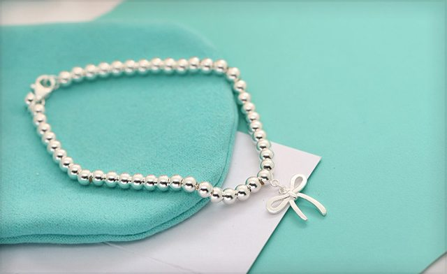 $29 for a Sterling Silver Bead Bracelet with a Bow - Shipping Included (a $129 Value)