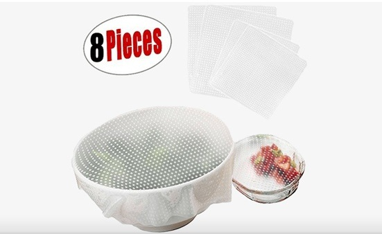 $15 for 8 Stretchable Silicone Food Protectors (a $39.55 Value)