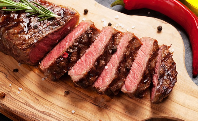 $79 for 10 x 12 oz New York Hand-Cut AA/AAA Striploin Steaks (a $175 Value)