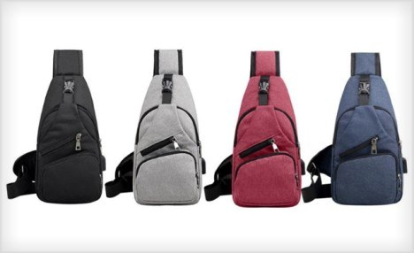 $19 for a USB Charging Shoulder Sling Bag (a $55.37 Value)